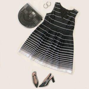 NWT Lane Bryant Black & White Striped Dress Sz 18